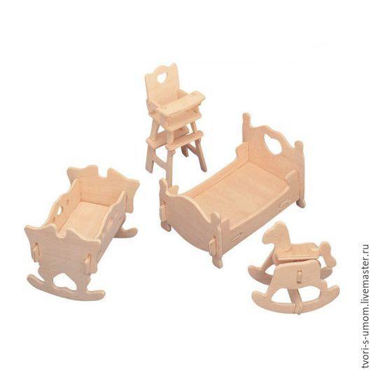"""Декупаж и роспись ручной работы. Ярмарка Мастеров - ручная работа. Купить """"Детская"""", Набор кукольной мебели, набор для сборки. Handmade."""
