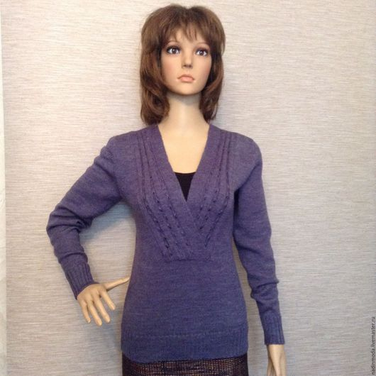 Кофты и свитера ручной работы. Ярмарка Мастеров - ручная работа. Купить Пуловер ЯНИКА. Handmade. Тёмно-синий, дизайнерская одежда