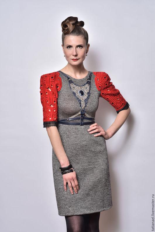 Платья ручной работы. Ярмарка Мастеров - ручная работа. Купить Трикотажное платье. Handmade. Однотонный, трикотажное платье, авторское платье