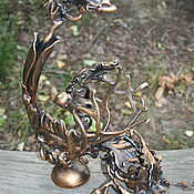 Сувениры и подарки handmade. Livemaster - original item Forged stand for a bottle with oak leaves.. Handmade.