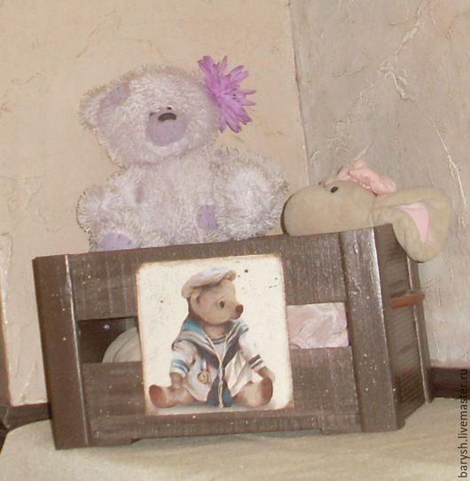 Детская ручной работы. Ярмарка Мастеров - ручная работа. Купить Короб для детских игрушек. Handmade. Коричневый, декор интерьера, дерево