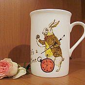 """Посуда ручной работы. Ярмарка Мастеров - ручная работа Чашка """"Алиса в стране чудес"""". Handmade."""