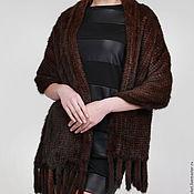 Аксессуары handmade. Livemaster - original item Tippet from knitted mink Classic. Handmade.