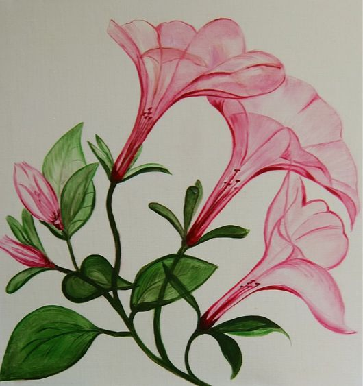 Картины цветов ручной работы. Ярмарка Мастеров - ручная работа. Купить Цветы. Handmade. Цветы, картина для интерьера, холст на подрамнике