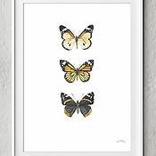 Картины и панно handmade. Livemaster - original item Pictures: Butterflies watercolor. Handmade.