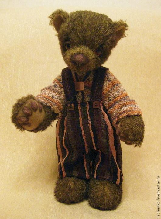 Мишки Тедди ручной работы. Ярмарка Мастеров - ручная работа. Купить Мишка Тимоша. Handmade. Коричневый, мишка в одежке, пряжа