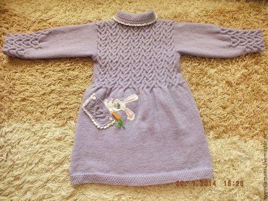 Одежда для девочек, ручной работы. Ярмарка Мастеров - ручная работа. Купить пальто Маша в стране чудес вязаное детское авторское. Handmade.