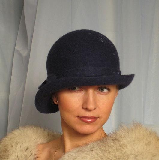 """Шляпы ручной работы. Ярмарка Мастеров - ручная работа. Купить Дамская шляпка """"Задумчивая"""" из коллекции """"Холли"""". Handmade. Шляпа, эксклюзив"""