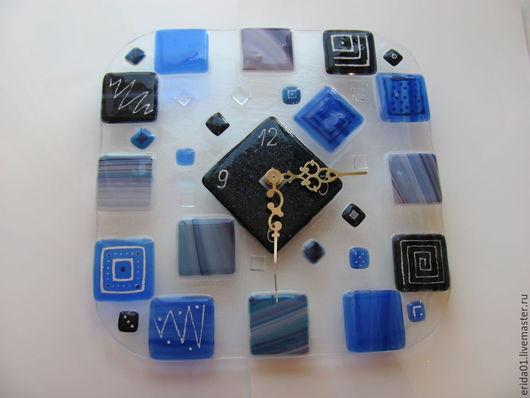 Часы для дома ручной работы. Ярмарка Мастеров - ручная работа. Купить Часы настенные. Handmade. Синий, часы в подарок, красный
