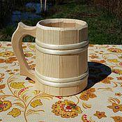 Посуда ручной работы. Ярмарка Мастеров - ручная работа Кружка 1 литр. Handmade.
