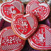 Сувениры и подарки handmade. Livemaster - original item Gingerbread for the most.Cakes for your beloved.. Handmade.