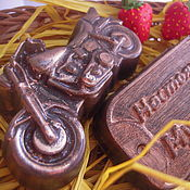 Косметика ручной работы handmade. Livemaster - original item Gift set soap a Real man always biker. Handmade.