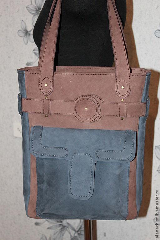 Женские сумки ручной работы. Ярмарка Мастеров - ручная работа. Купить Кожаная сумка Двухцветная. Handmade. Женская сумка