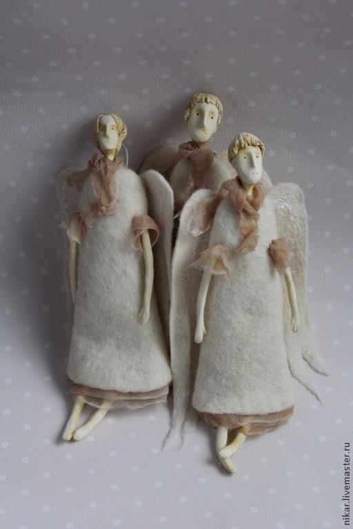 Коллекционные куклы ручной работы. Ярмарка Мастеров - ручная работа. Купить Ангелы. Handmade. Белый, авторский ангел