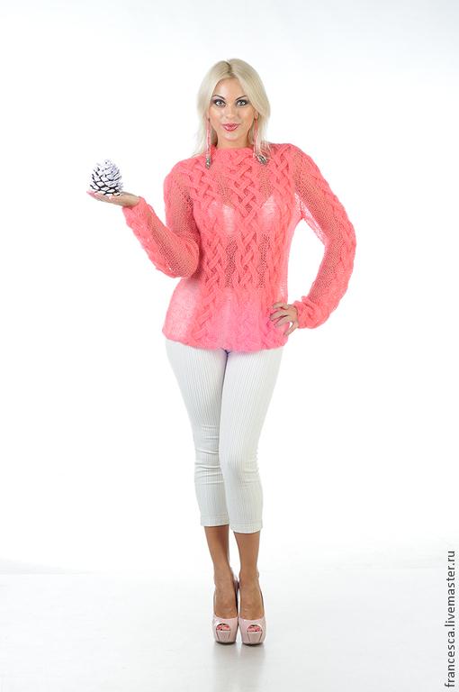 Сексуальный женский мохеровый свитер кораллового цвета - тренд сезона 2014. Дизайнерская модель, выполнена в одном экземпляре. Модель: Anna Nox Фото: Serge Grek, grekfoto@gmail.com