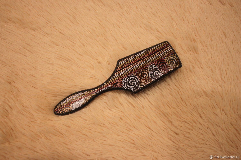 Vajilla decorativa manualidades. Livemaster - hecho a mano. Comprar 'La fantasía de la' cresta. HandmadeBlack, massage comb