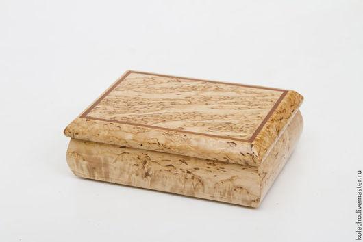 """Шкатулки ручной работы. Ярмарка Мастеров - ручная работа. Купить Шкатулка """"двойка"""" из карельской березы. Handmade. Бежевый, сувениры из дерева"""