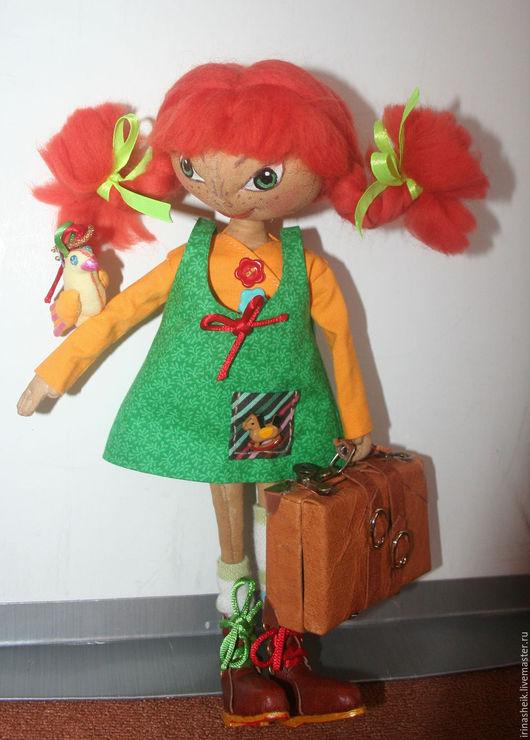 Куклы тыквоголовки ручной работы. Ярмарка Мастеров - ручная работа. Купить Пеппи Длинныйчулок, девочка, которая не хотела взрослеть. Handmade.