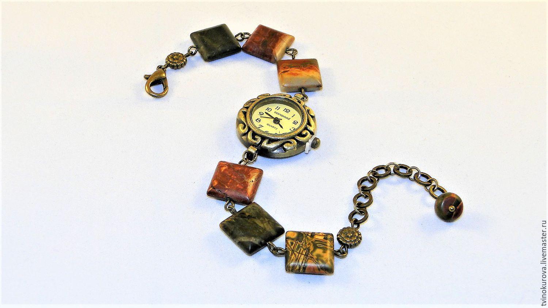 Часы с Яшмой Пикассо, Часы наручные, Москва,  Фото №1