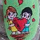 Обувь ручной работы. Заказать домашние валяные тапочки из натуральной шерсти Love is - 2. Кэт & Ко (6116466). Ярмарка Мастеров.