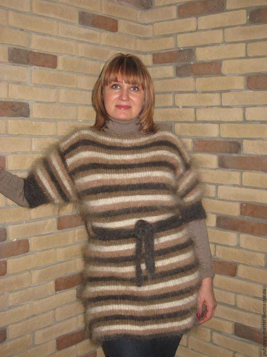 Кофты и свитера ручной работы. Ярмарка Мастеров - ручная работа. Купить Туника пуховая. Handmade. Бежевый, женская одежда, пуховая