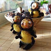 Куклы и игрушки handmade. Livemaster - original item Product No. №1 Hairy beetle (Shaggy bumblebee). Handmade.