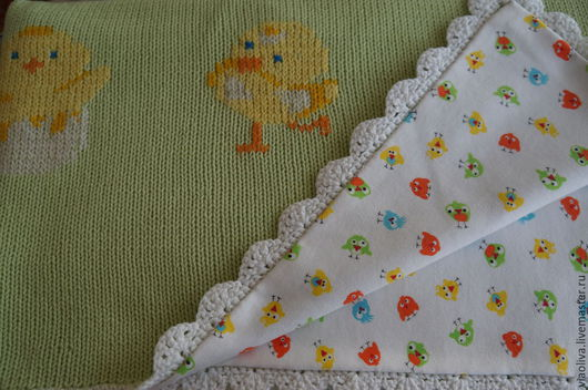 """Аксессуары для колясок ручной работы. Ярмарка Мастеров - ручная работа. Купить """"Мои цыплята"""" детское одеяло. Handmade. Одеяло"""