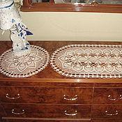 Для дома и интерьера ручной работы. Ярмарка Мастеров - ручная работа салфетка овальная вязаная. Handmade.