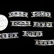 Материалы для творчества ручной работы. Ярмарка Мастеров - ручная работа Коннектор на две нити с кристаллами цвет серебристый. Handmade.