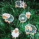 Новый год 2017 ручной работы. Овечки. Набор новогодних украшений.. Марина (ma-rine). Интернет-магазин Ярмарка Мастеров. Год овцы