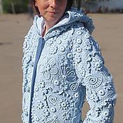 Одежда ручной работы. Ярмарка Мастеров - ручная работа Пальто в технике фриформ.. Handmade.