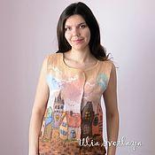 Vests handmade. Livemaster - original item Felted vest Once in Tallinn, designer Ulia Svetlaya. Handmade.