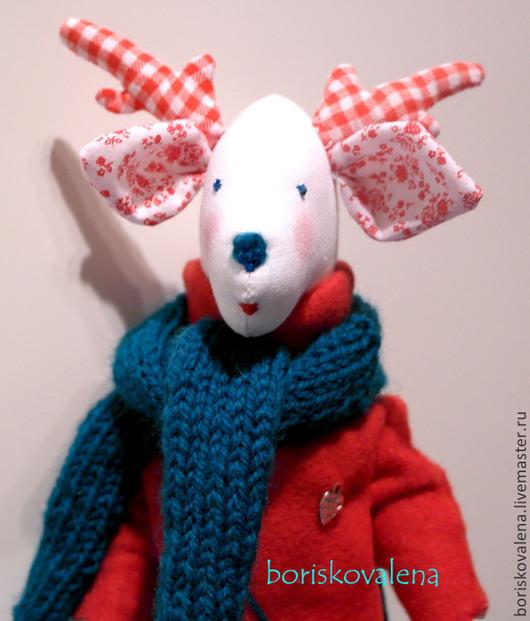 Куклы Тильды ручной работы. Ярмарка Мастеров - ручная работа. Купить Олень новогодний. Handmade. Ярко-красный, олень
