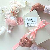 Мягкие игрушки ручной работы. Ярмарка Мастеров - ручная работа Текстильная кукла маленькая балерина. Handmade.