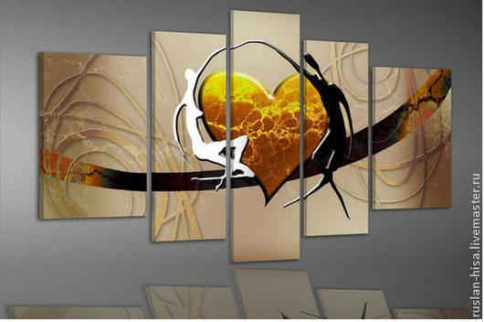 Абстракция ручной работы. Ярмарка Мастеров - ручная работа. Купить Картина с сердечком. Handmade. Картина, купить, продажа, холст масло