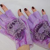 Аксессуары handmade. Livemaster - original item Mitts pale lilac. Handmade.