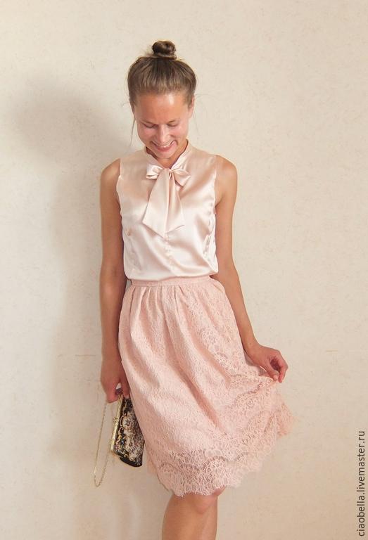 """Юбки ручной работы. Ярмарка Мастеров - ручная работа. Купить Кружевная юбочка """"Mali"""". Handmade. Кремовый, юбка на поясе, блуза"""