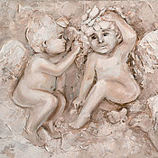 Картины и панно ручной работы. Ярмарка Мастеров - ручная работа Ангелы с бабочкой. Handmade.