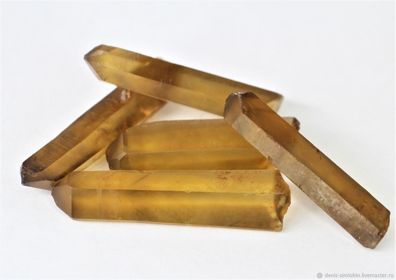 Цитрин. Природные фантомные кристаллы из Замбии, Минералы, Ессентуки,  Фото №1