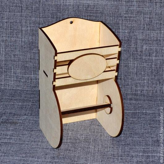 ДД-05-004. Держатель для туалетной бумаги с полочкой. Удобная и практичная вещь!