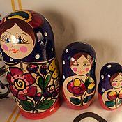 Русский стиль handmade. Livemaster - original item Matryoshka 5 PCs (16cm height). Handmade.