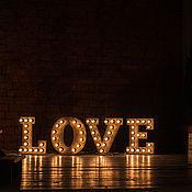 Для дома и интерьера ручной работы. Ярмарка Мастеров - ручная работа Буквы из дерева LOVE с подсветкой. Handmade.