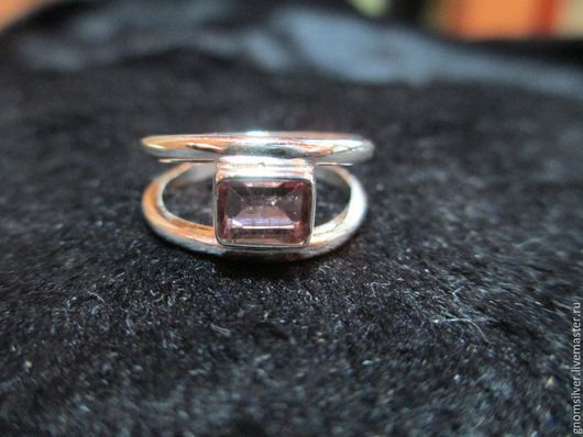Кольца ручной работы. Ярмарка Мастеров - ручная работа. Купить Авторское кольцо с турмалином с о. Цейлон. Handmade. Розовый