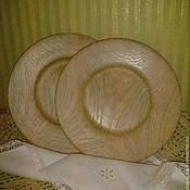Тарелки ручной работы. Ярмарка Мастеров - ручная работа Тарелка Дубовый Аромат. Handmade.