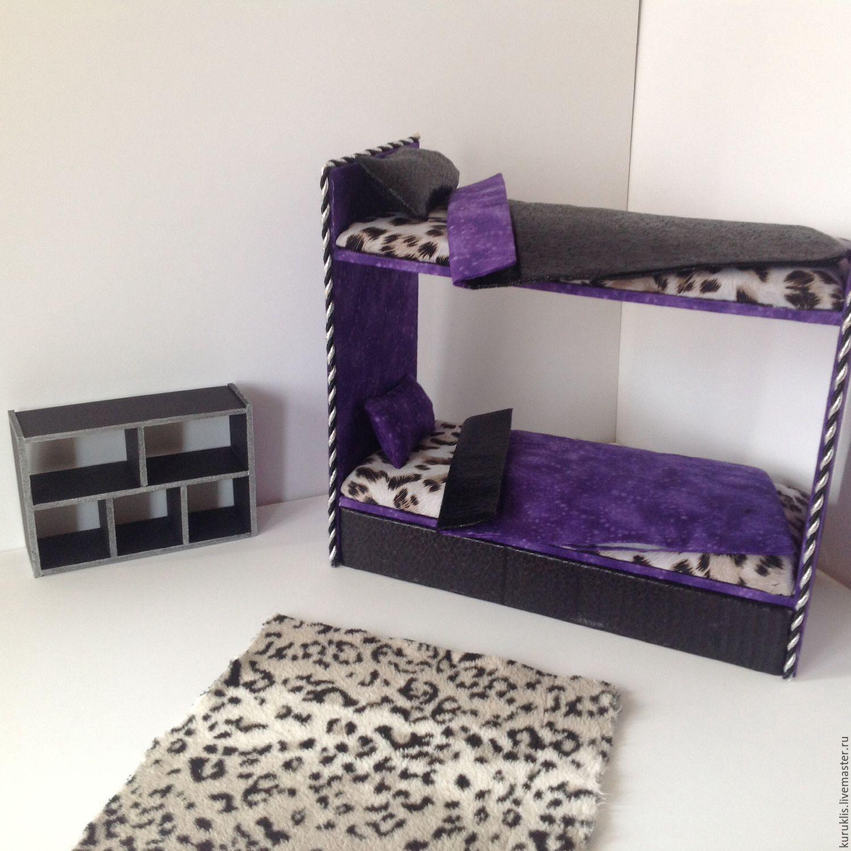 Как сделать кукле барби кровать из картона