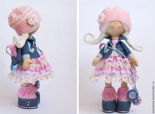 Коллекционные куклы ручной работы. Ярмарка Мастеров - ручная работа. Купить Весна. Кукла текстильная. Большеногая девочка. Юная Селестина. Handmade.