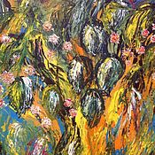 Картины и панно handmade. Livemaster - original item Gardens in bloom. Handmade.