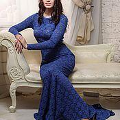 Одежда ручной работы. Ярмарка Мастеров - ручная работа Вечернее кружевное платье в пол. Handmade.