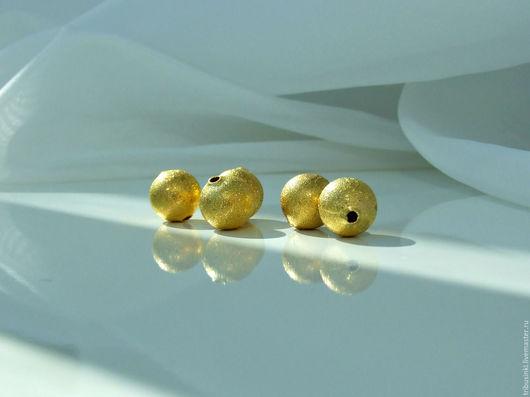 Для украшений ручной работы. Ярмарка Мастеров - ручная работа. Купить Бусина круглая Сахарная 12 мм.. Handmade. Золотой
