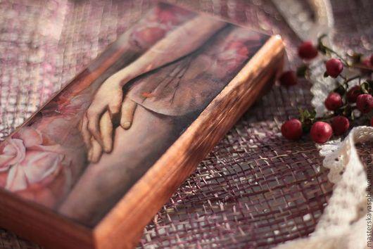 """Подарки для влюбленных ручной работы. Ярмарка Мастеров - ручная работа. Купить Купюрница """"Навсегда"""" из красного дерева. Handmade. Купюрница"""